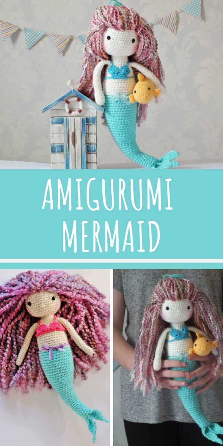 This amigurumi mermaid crochet pattern needs to be on your project list!