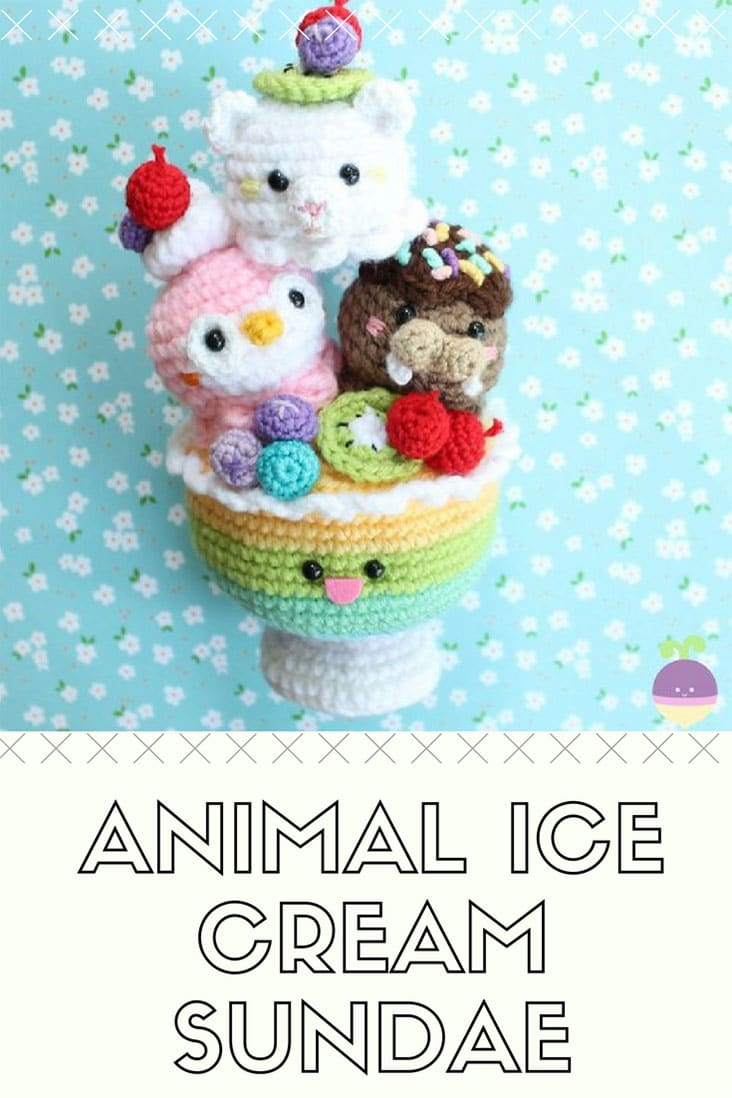 Crochet Animal Ice Cream Sundae