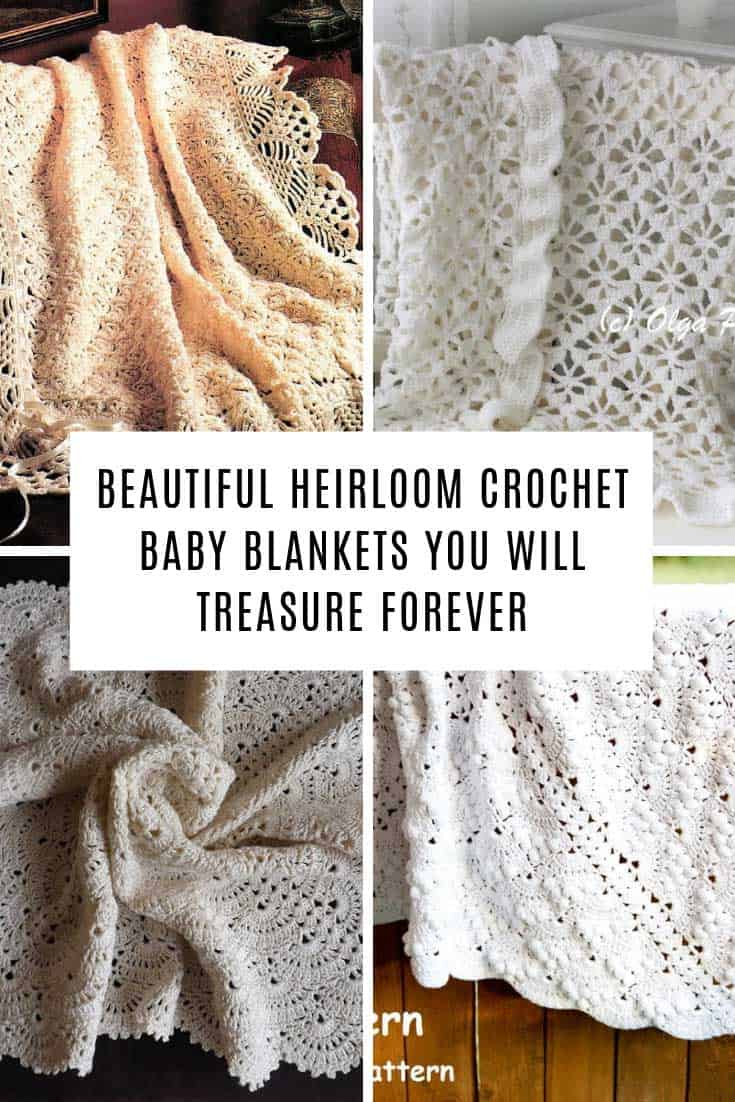 These crochet heirloom baby blankets are delightful with their traditional lace designs. They are perfect for christenings and baptisms and will be treasured forever