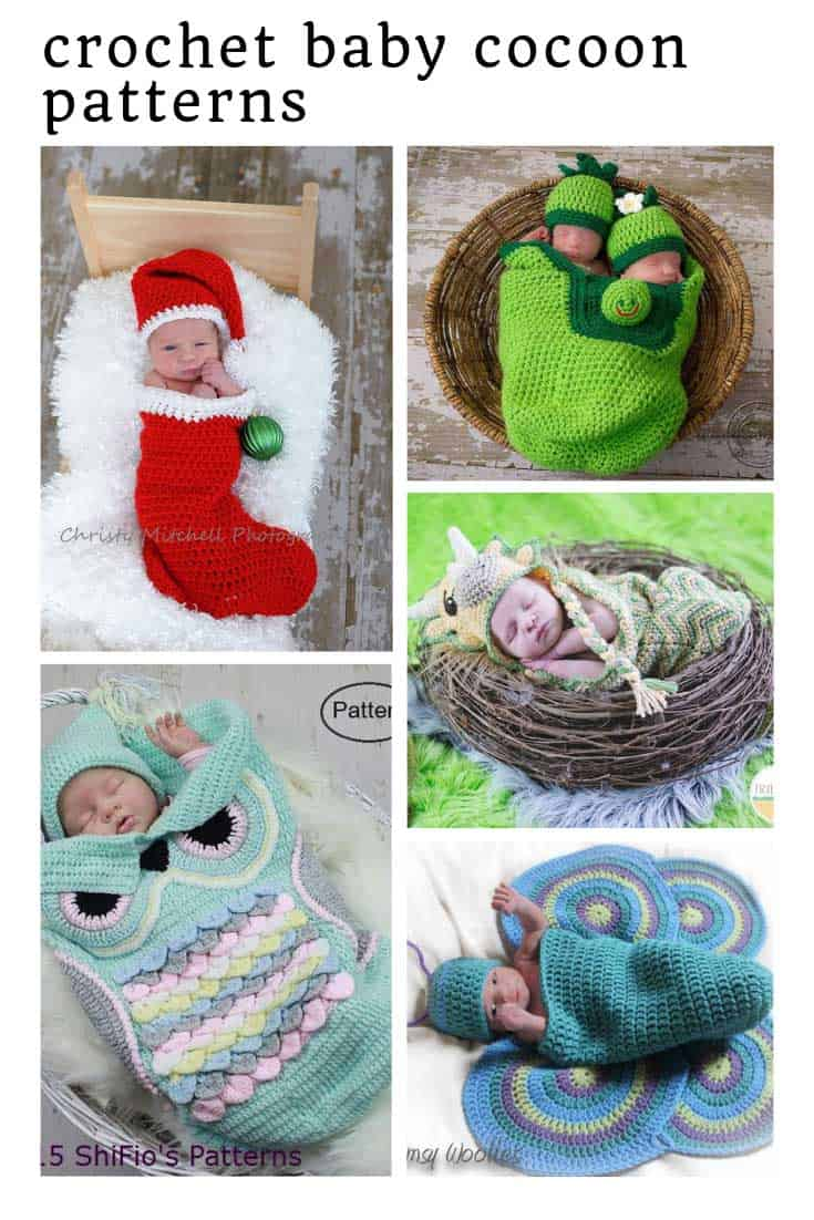 These crochet baby cocoon patterns are just what you need for your newborn baby shoot