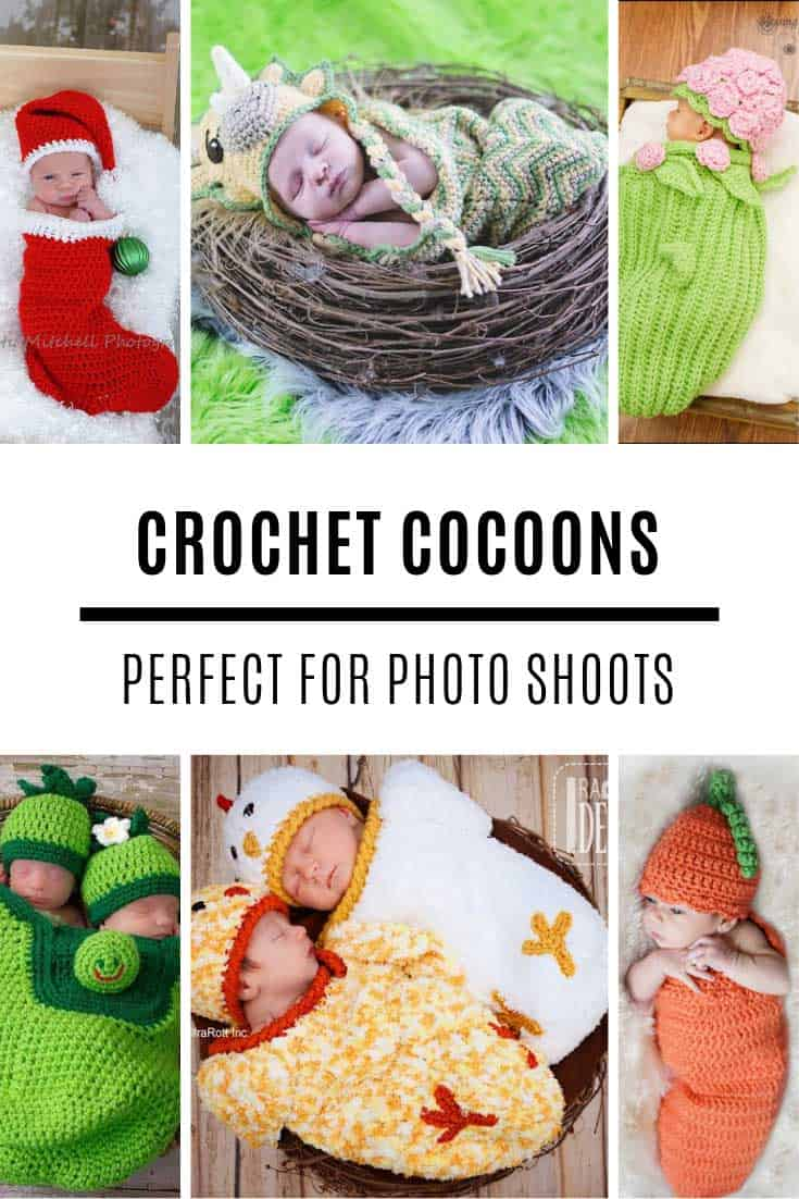 Oh my so ADORABLE! Loving these crochet baby cocoon patterns for a photo shoot!