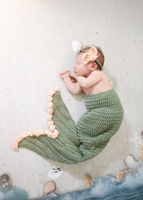 Crochet Baby Mermaid Tail Tutorial