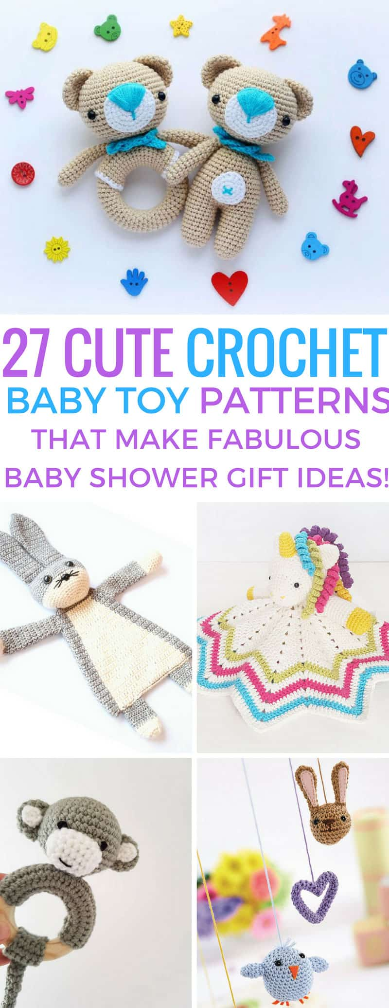 Loving these crochet baby toys - the patterns are adorable! Thanks for sharing!