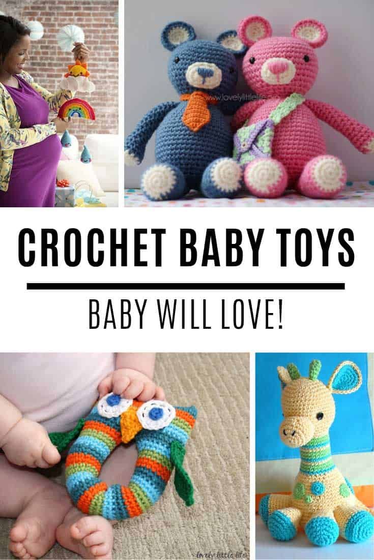 Loving these crochet baby toy patterns - they're perfect for baby shower gifts!