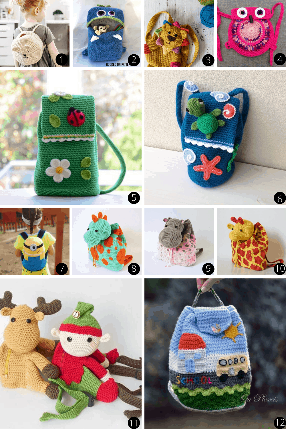 Whether you are looking for handmade crochet backpacks, or patterns so you can make your own - your kids are sure to love these designs! #crochet #handmadegifts