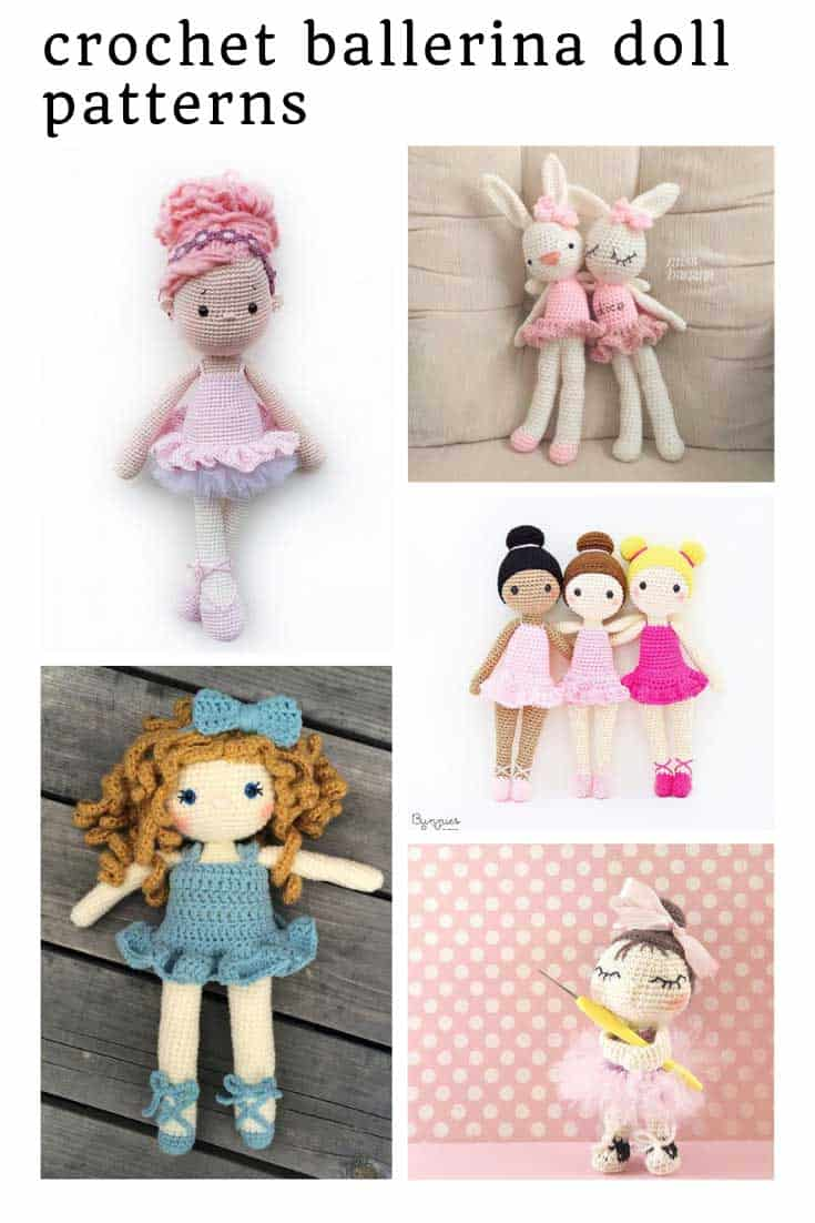 So many ADORABLE crochet ballerina doll patterns to make!
