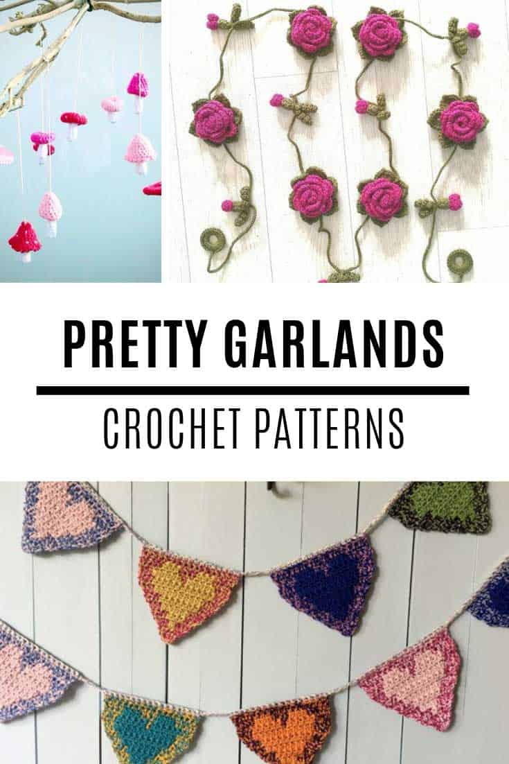 So many wonderful crochet banner patterns to brighten up your home!