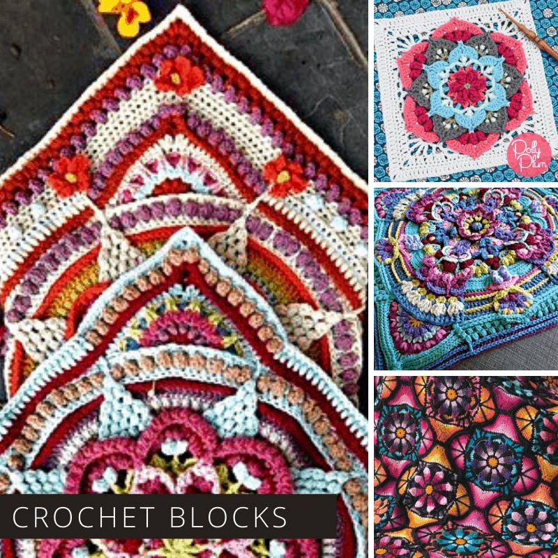If you want to make a stunning afghan you can't go wrong with any one of these crochet starter blocks!