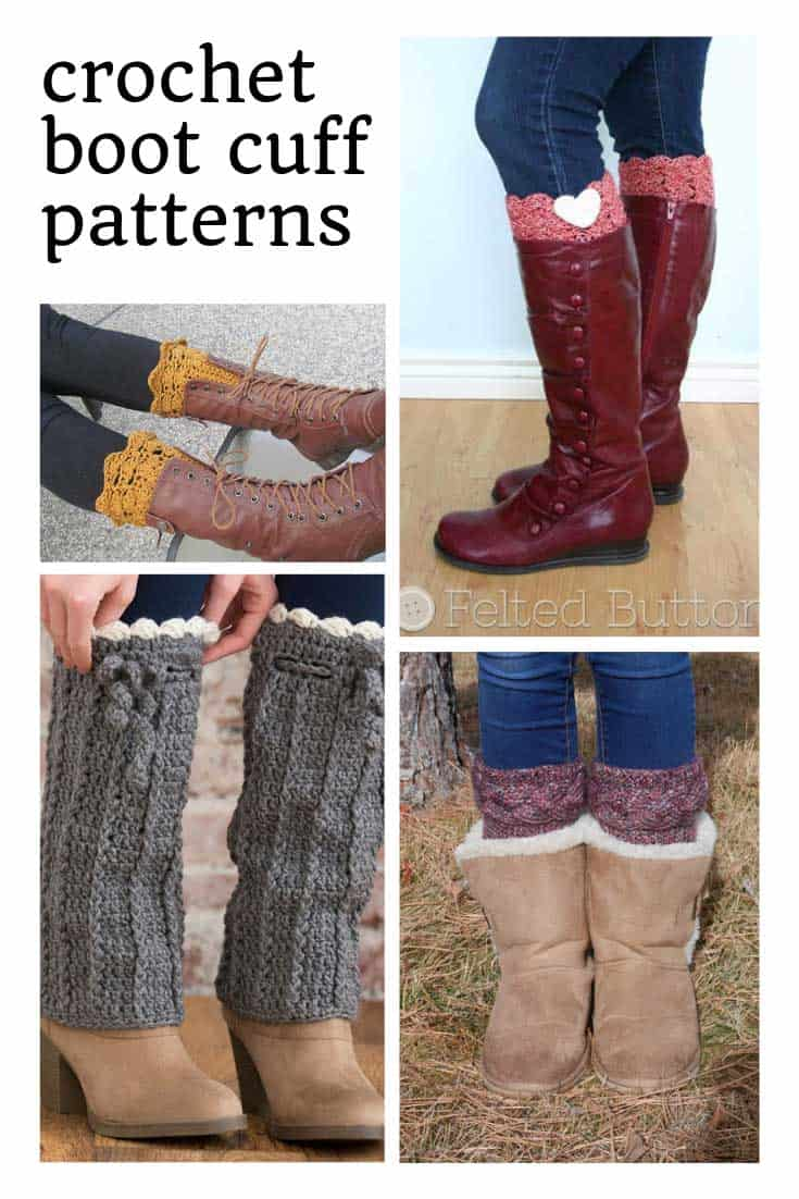 These crochet boot cuff patterns are just what i need for the winter!