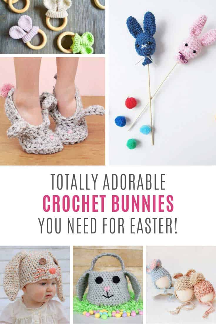 So many cute crochet bunny patterns for Easter!