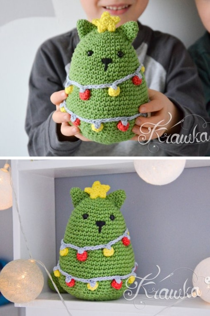 Crochet Cat Christmas Tree Pattern