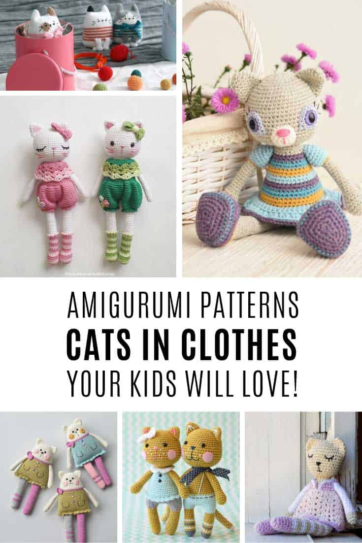 Oh my goodness these crochet cat patterns are the cutest!