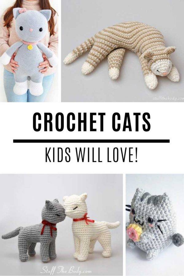 Oh my goodness these crochet cats amigurumi patterns are just the CUTEST things!