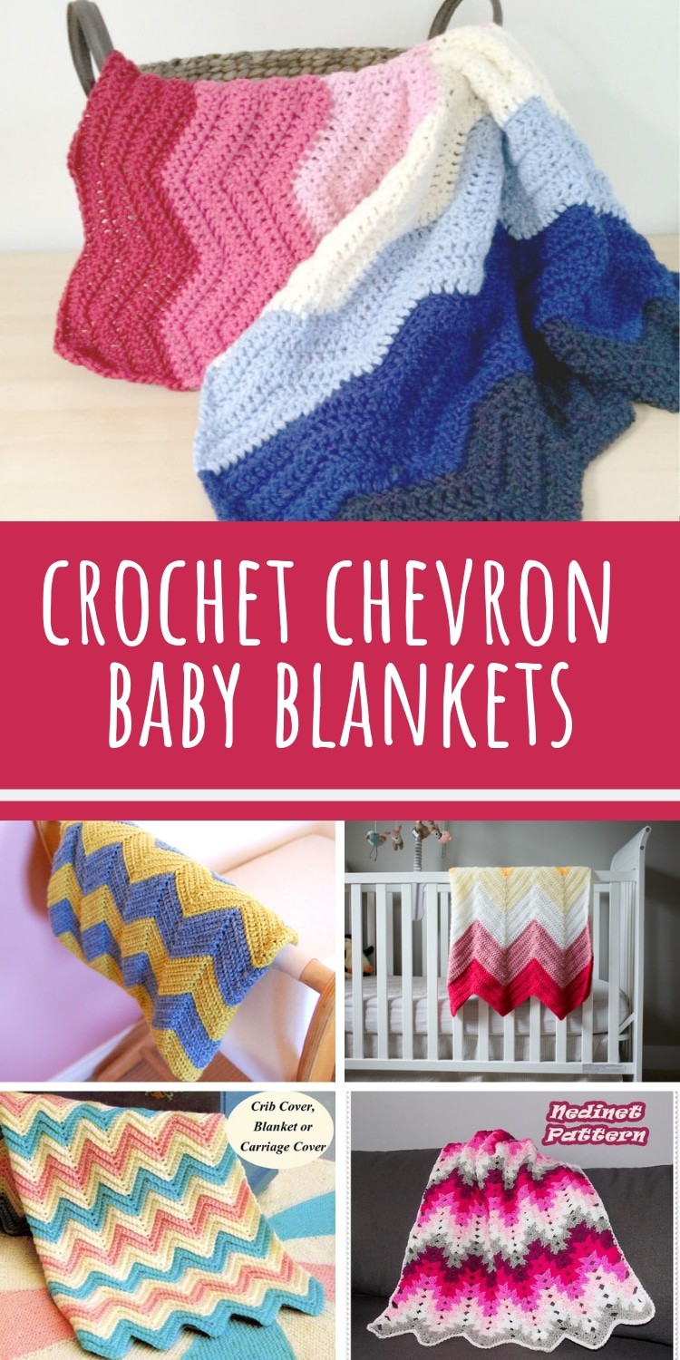 How fabulous are these chevron baby blankets! So many crochet patterns to try!