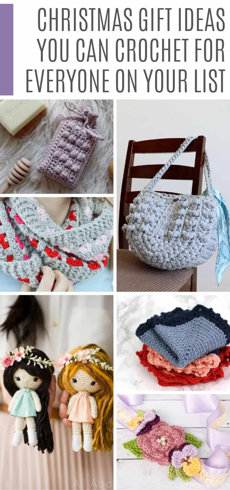 Who knew there were so many crochet Christmas gift ideas! I can make something for everyone on my list!