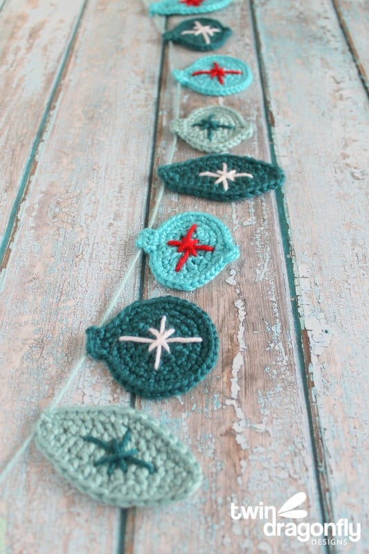 Crochet Christmas Ornament Bunting Free Pattern