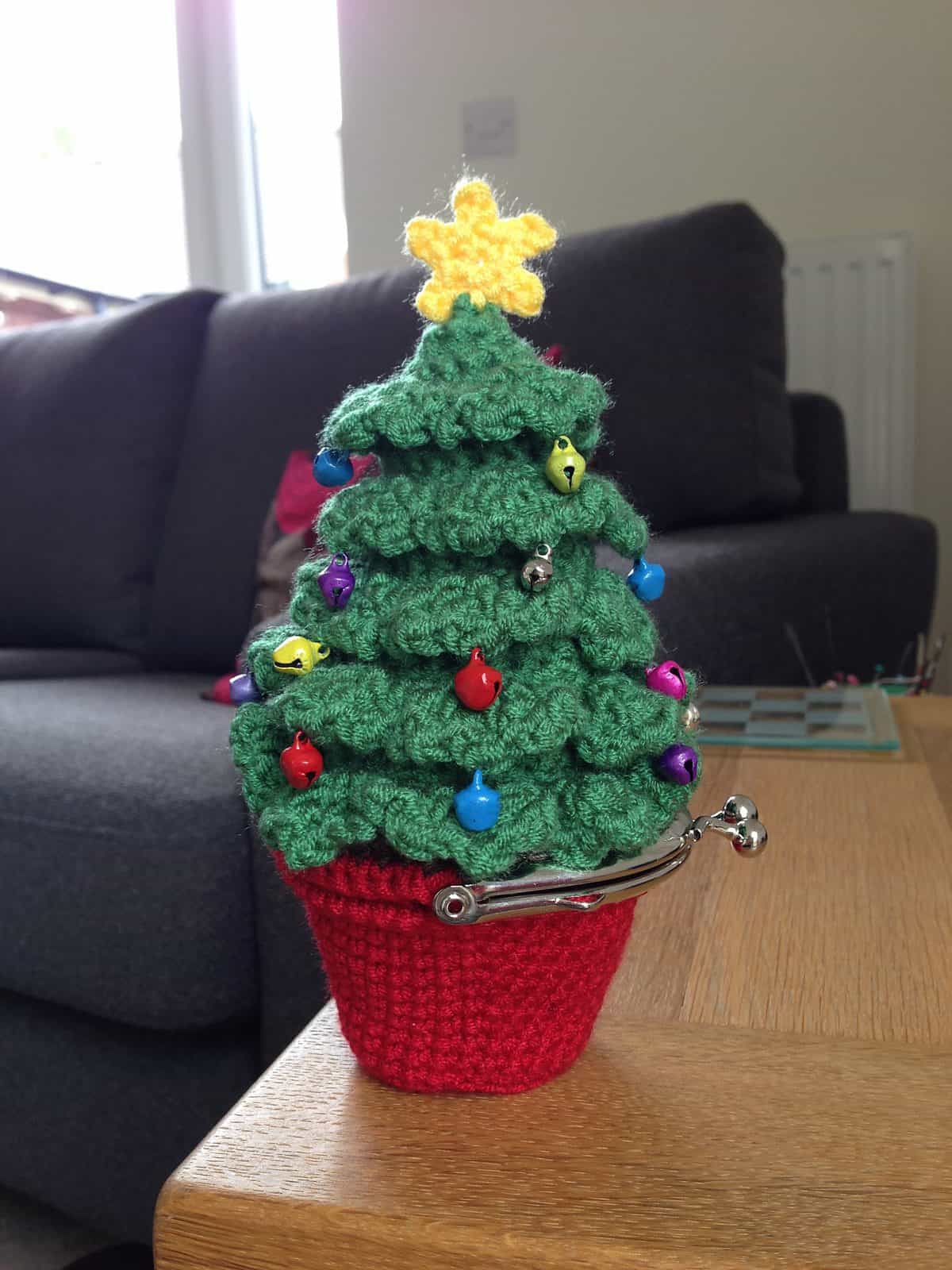 Crochet Christmas Tree Coin Purse Pattern