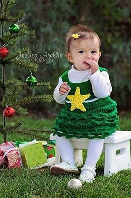 Crochet Christmas Tree Dress Pattern