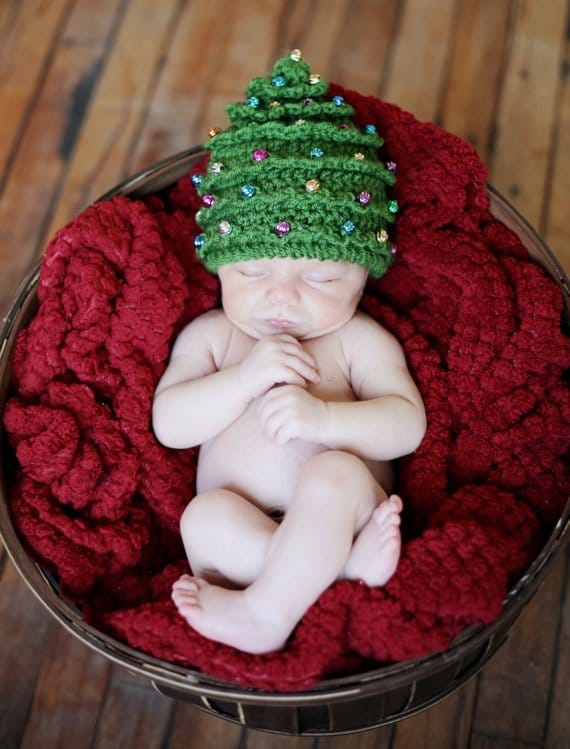 Crochet Christmas Tree Hat Pattern