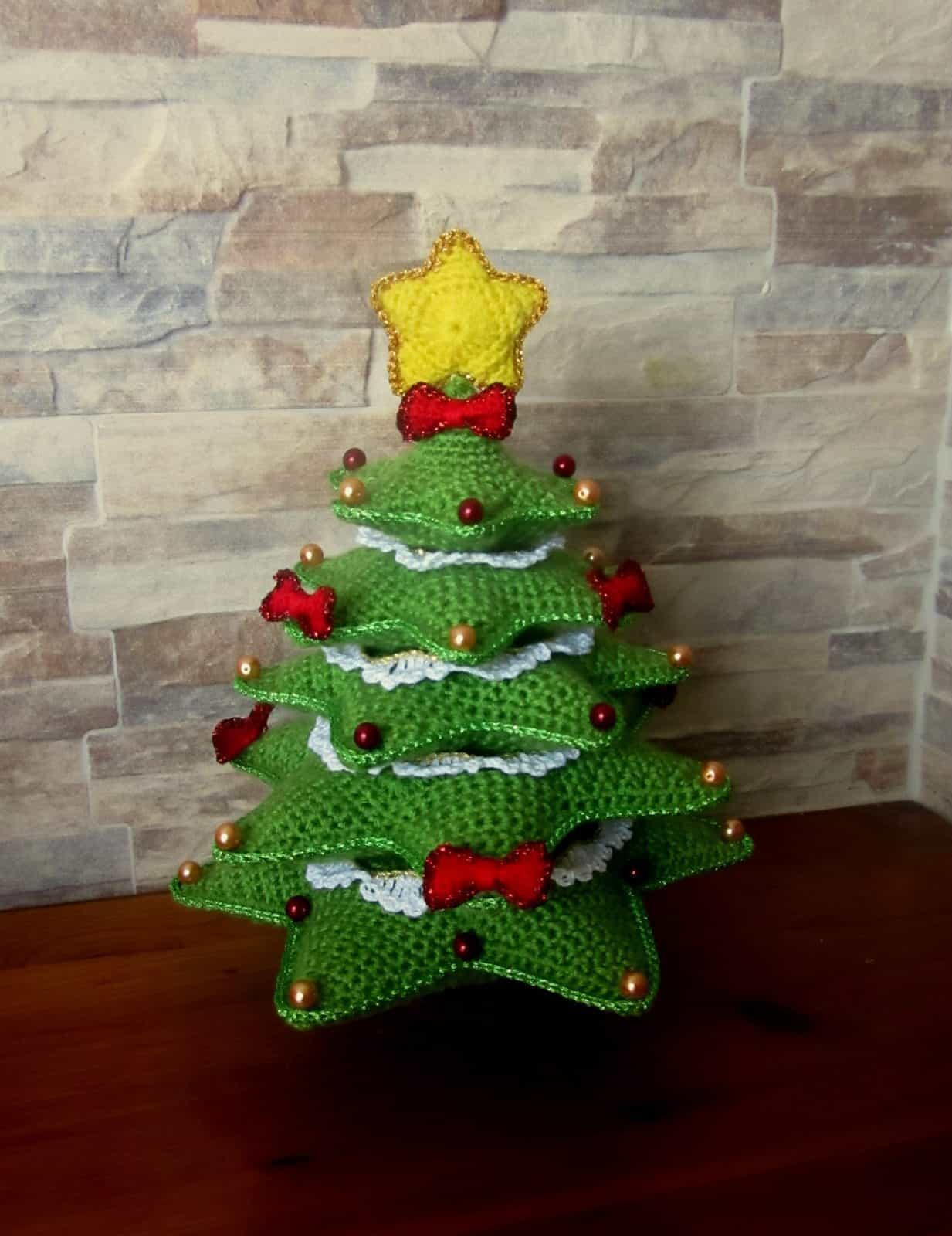 Crochet Christmas Tree Home Decor