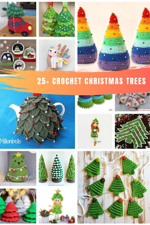 Need ideas for Crochet Christmas trees? There are so many great patterns here you're sure to find some you love! #christmascrochet #christmas #crochetpatterns