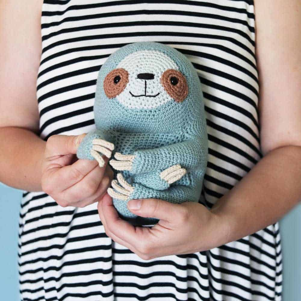 Crochet Cuddly Sloth Toy