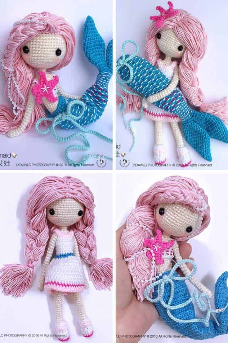 These Crochet Mermaid Dolls Will Take You Under The Sea