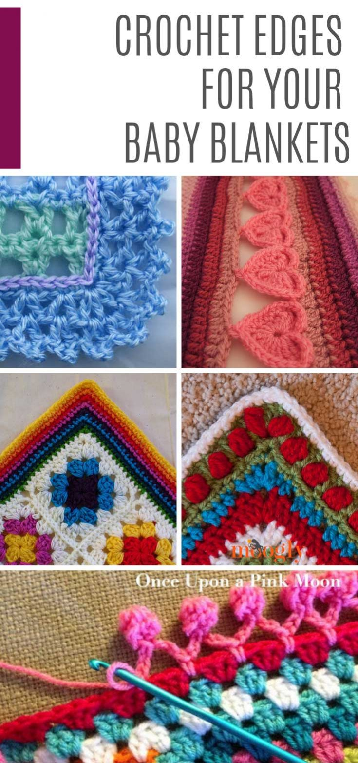 12 Crochet Edging Patterns to Finish Off Your Blankets in Style