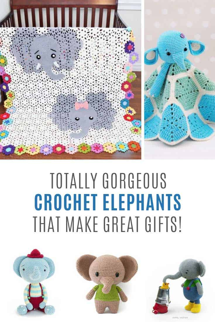 These elephant crochet patterns make great baby shower gifts!
