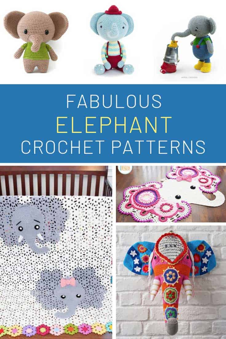 How fabulous are these crochet elephant projects! That faux taxidermy is something else!