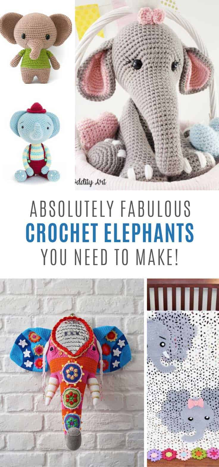You need to add these crochet elephants patterns to your project list!