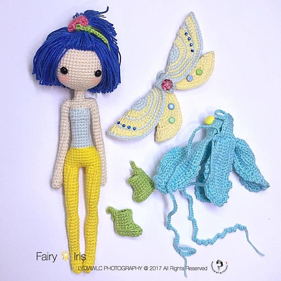 Crochet Fairy Doll Removable Clothes