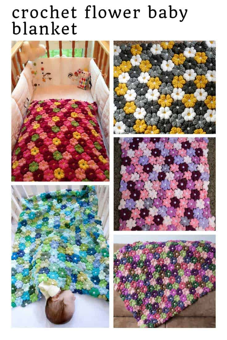 This crochet flower baby blanket pattern is just STUNNING!