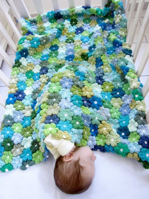 Crochet Flower Baby Blanket