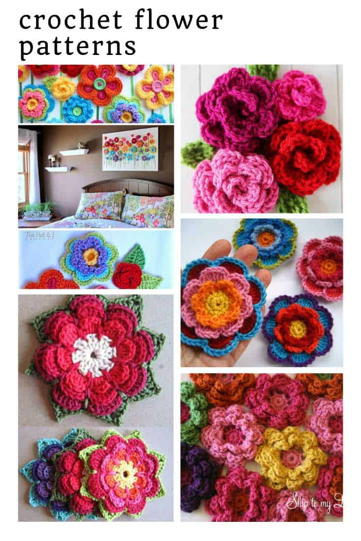 So many fabulous crochet flower patterns!
