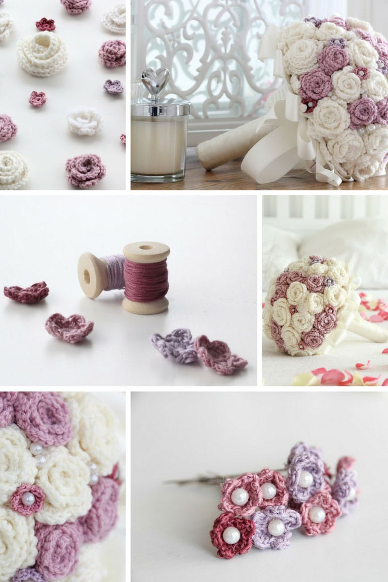 How to make crochet flowers put a little love on your hook crochet flower wedding bouquet pinterest izmirmasajfo