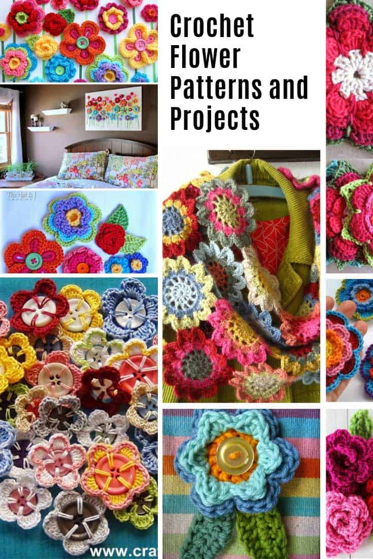 Loving these crochet flowers projects!