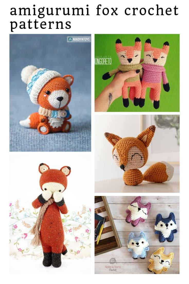 Loving these crochet fox amigurumi patterns! So sweet!