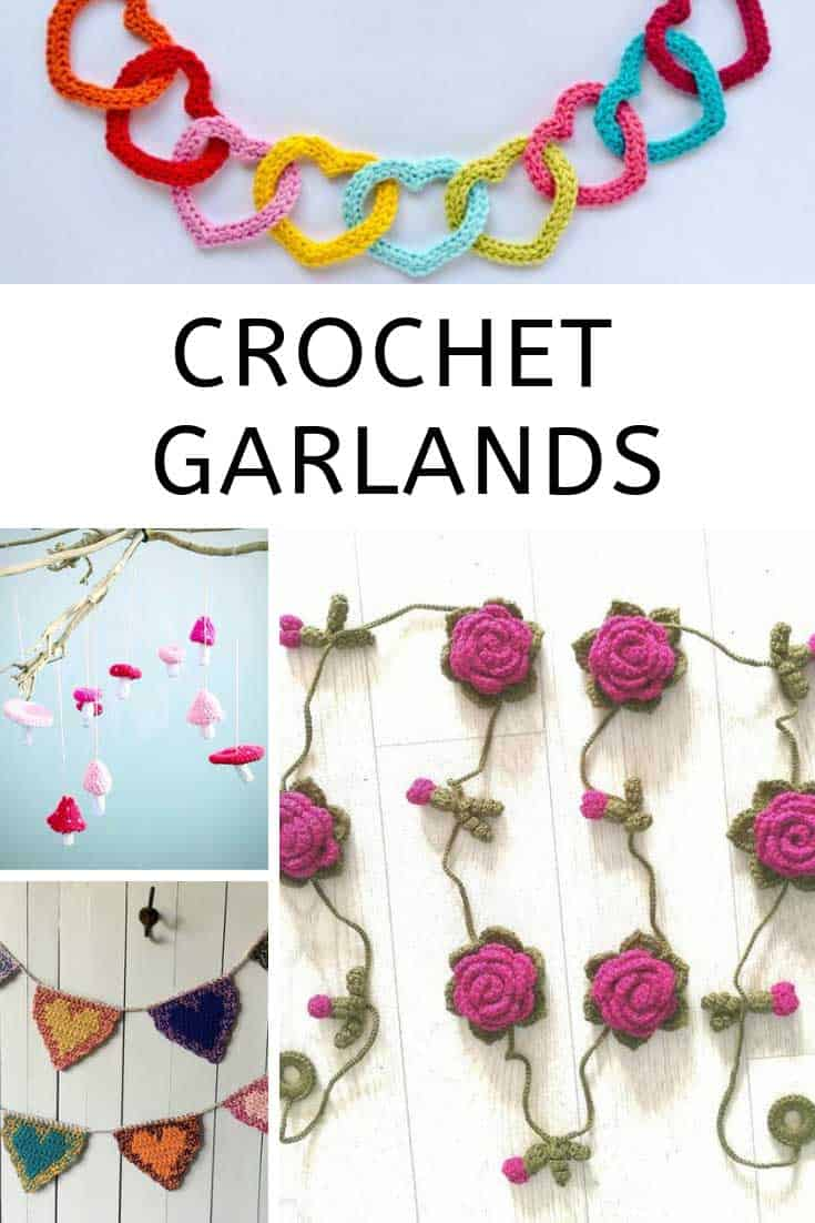 These crochet garland patterns can also be used to make keychains or bookmarks!