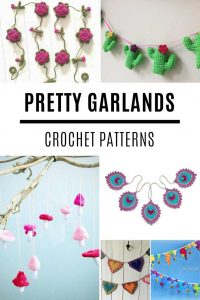 These crochet garland patterns are so PRETTY!
