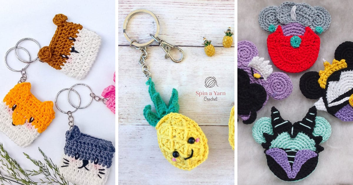 68 Amigurumi Keychain Pattern Ideas. Small, Cute and Very Simple ... | 628x1200