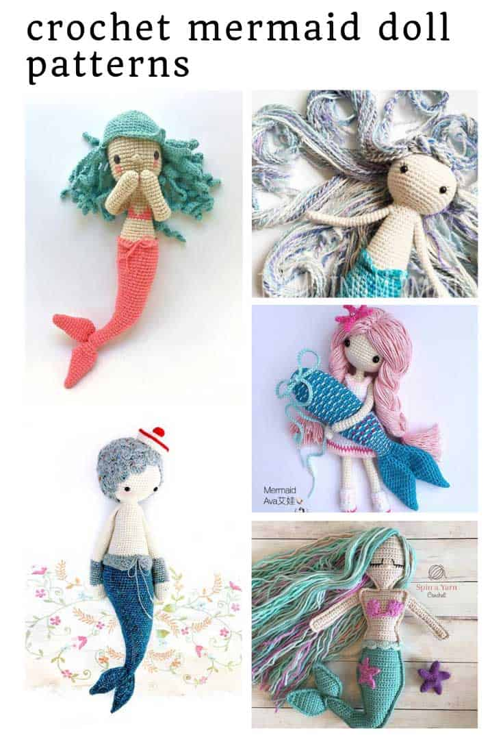 So many fabulous crochet mermaid doll patterns to make as gifts for children!