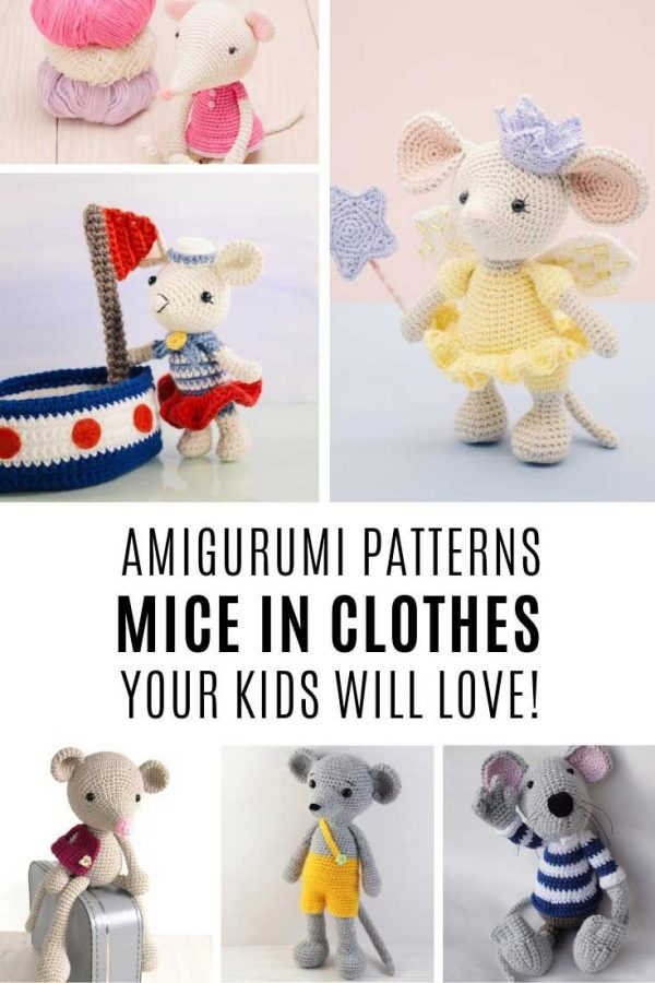 Your kids will love these crochet mice doll patterns!