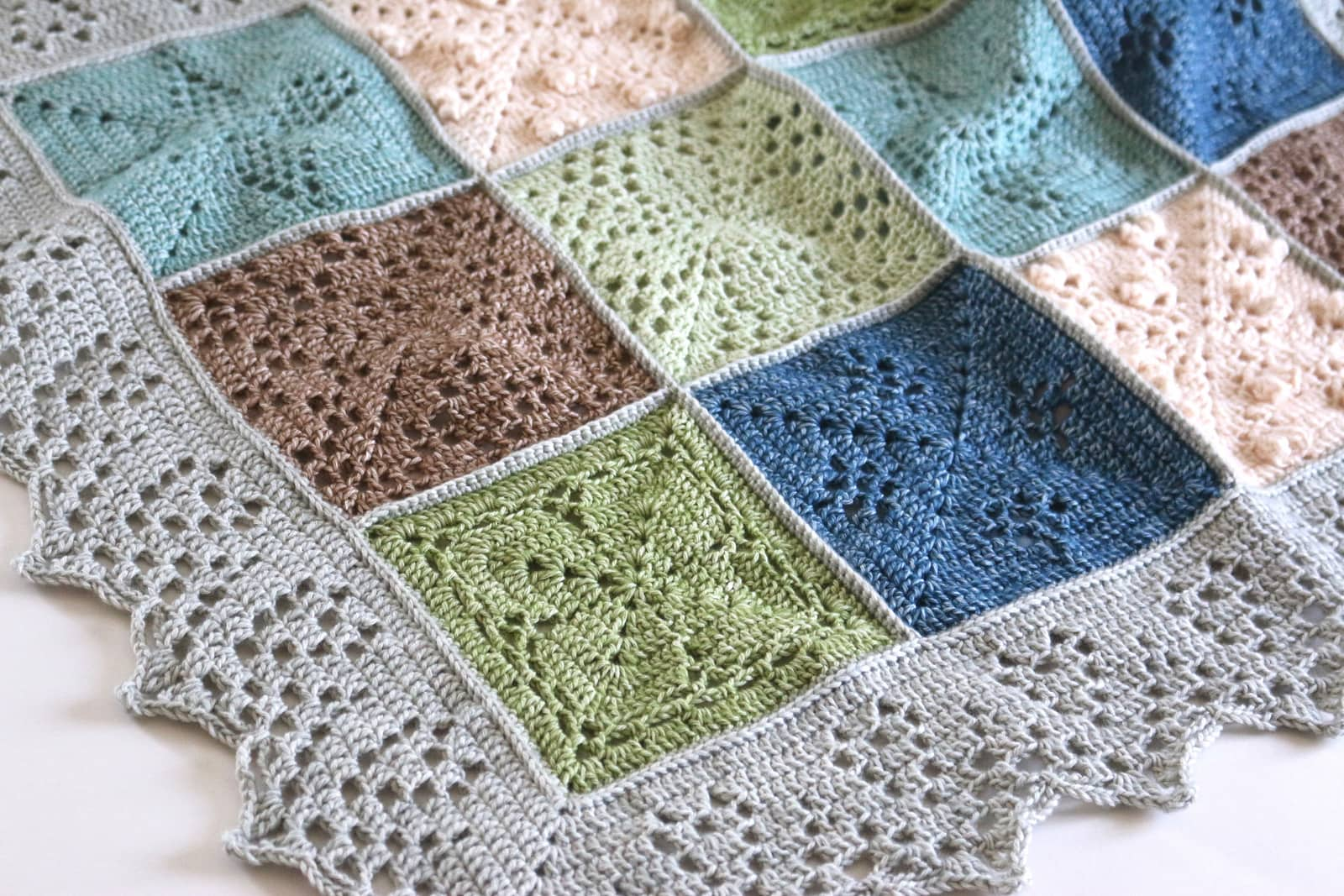 This version uses earthy tones that really match the nature theme of the crochet pattern