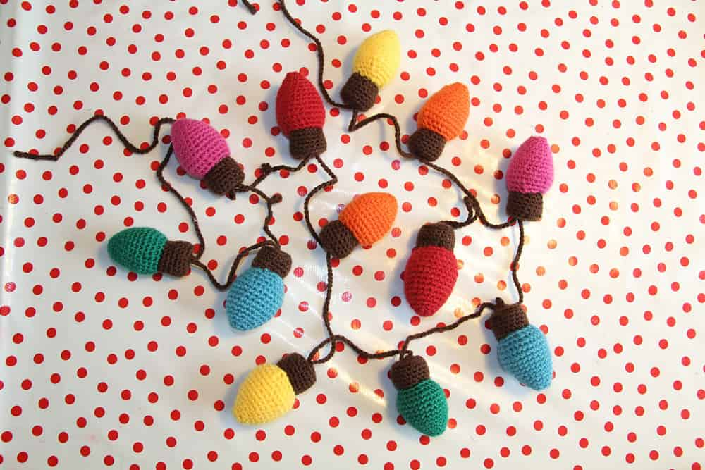 Crochet Pattern Christmas Lights Garland