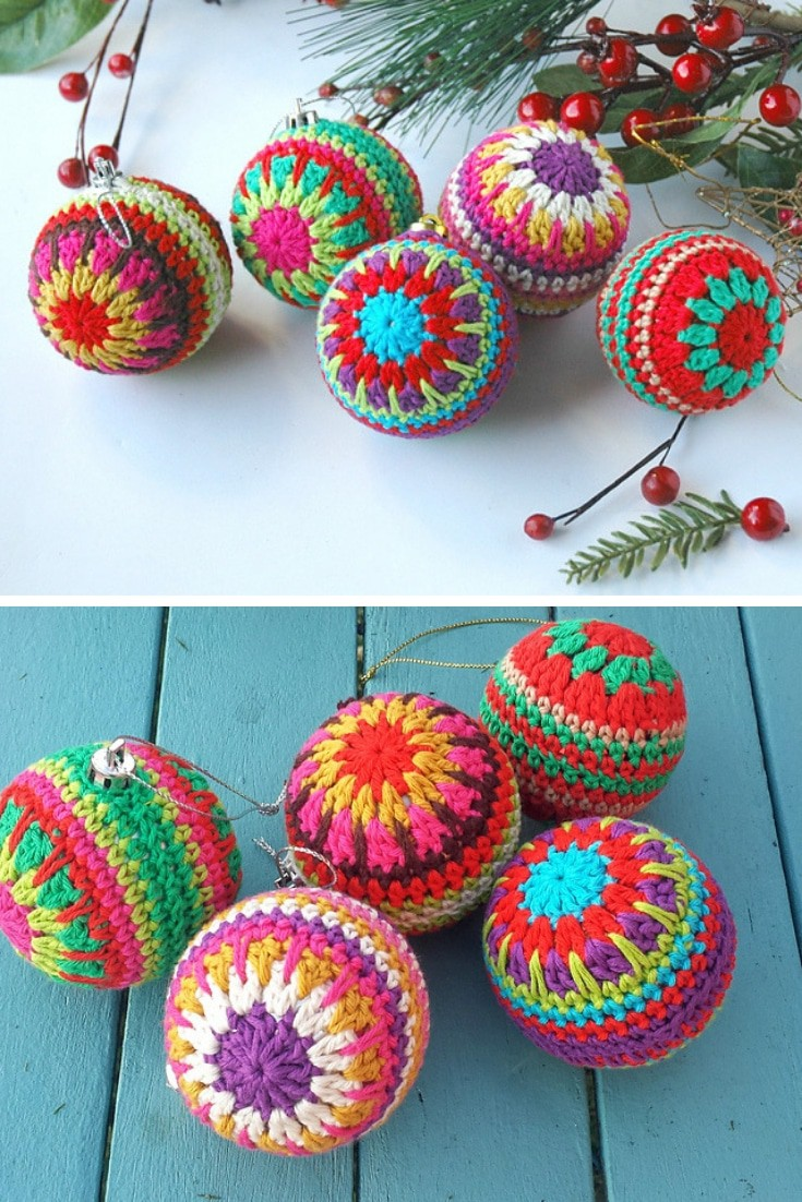 Crochet Pattern Christmas Tree Baubles