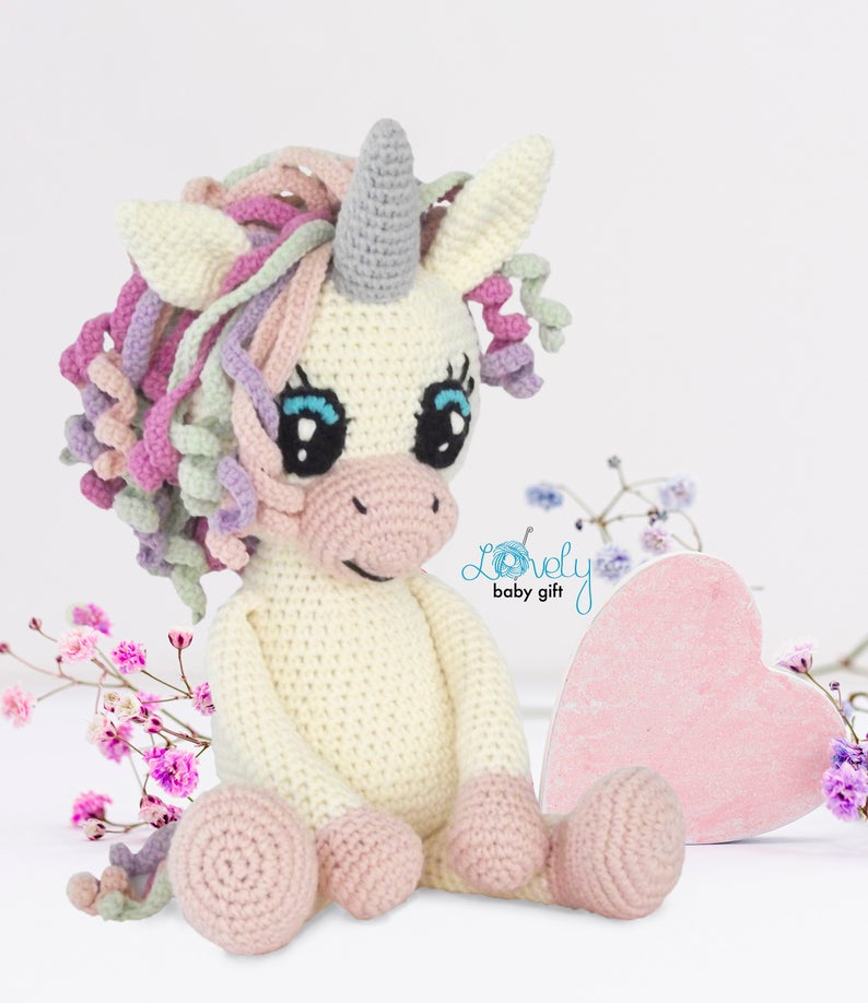 PATTERN: Candi the Unicorn, Crochet Unicorn Pattern, crochet horse ... | 918x794