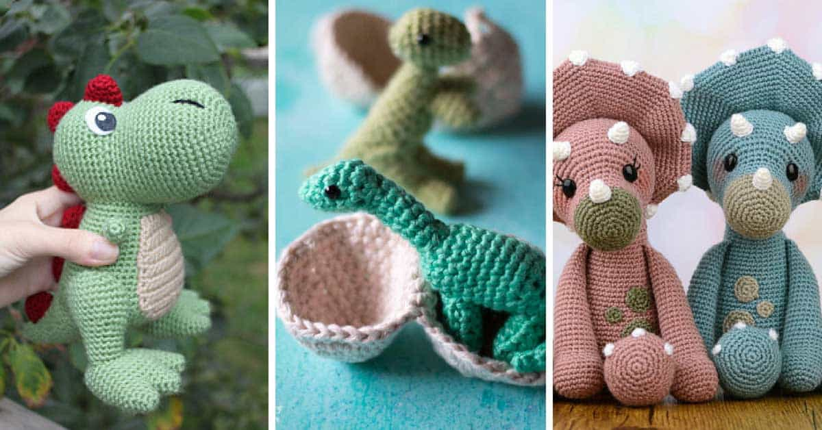 8 Adorable Dinosaur Crochet Patterns Youll Want To Make This Weekend