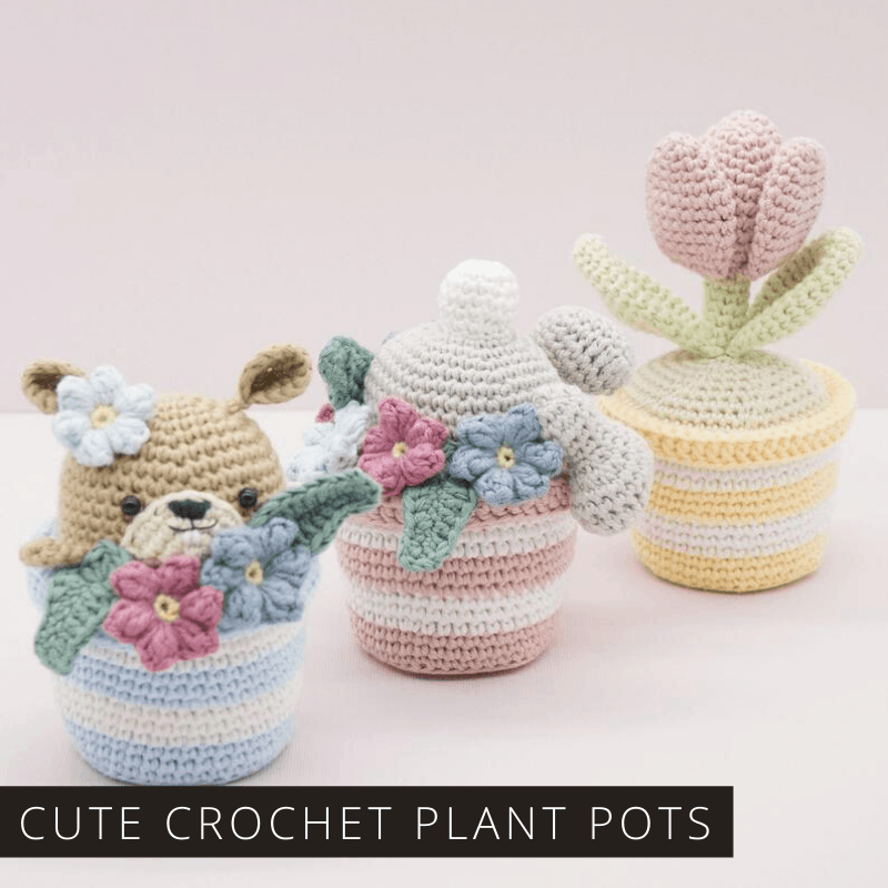 How cute are these crochet plant pots! Full of the joys of Spring for sure! Download the pattern today!
