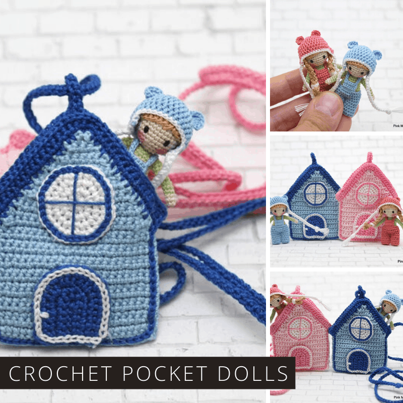 Oh my goodness how totally adorable are these teeny tiny pocket dolls that you can crochet for your child!